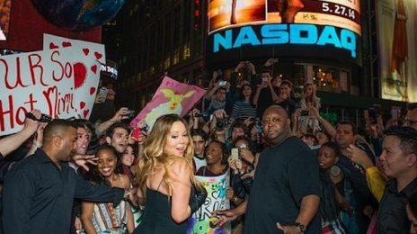 Hot Shots: Mariah Carey Kicks Off Album Campaign In Times Square