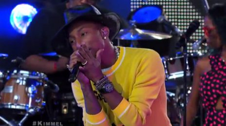 Watch: Pharrell Williams Takes 'Marilyn Monroe' To 'Jimmy Kimmel Live'