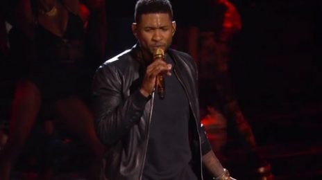 "Watch:  Usher Puckers Up For First ""Good Kisser"" Live Performance"
