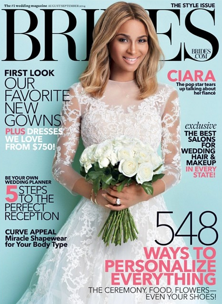 Ciara Brides That Grape Juice 2014 Hot Shot: Ciara Covers Brides Magazine