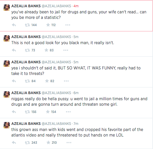 Screen Shot 2014 06 17 at 18.21.02 Azealia Banks Lays Into Tiny & T.I Following Death Threat