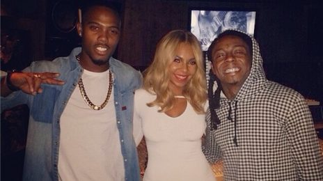 Hot Shot: Ashanti Hits Studio With Lil Wayne & B.O.B