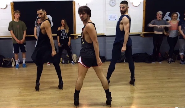 beyonce yanis heels Male Trios High Heels Tribute To Beyonce Goes Viral