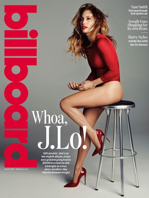 jlo billboard Fierce: Jennifer Lopez Is Lady In Red For Billboard