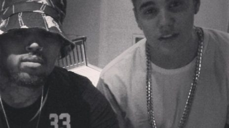 Why? Chris Brown Hits Studio With...Justin Bieber
