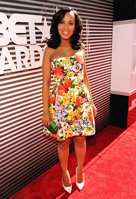 kerrywashington thatgrapejuice betawards Red Carpet Arrivals:  BET Awards 2014