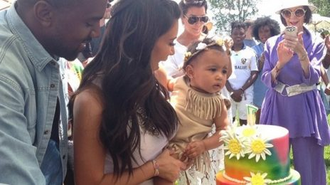 Hot Shot: Kanye West & Kim Kardashian Celebrate North West's 1st Birthday