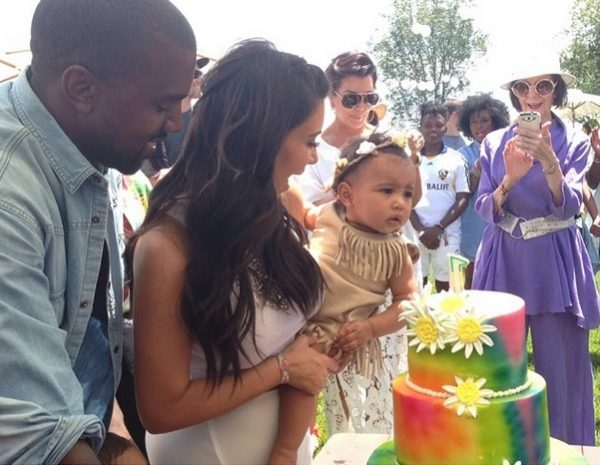 kim kardashian kanye west kidchella 600x465 Hot Shot: Kanye West & Kim Kardashian Celebrate North Wests 1st Birthday