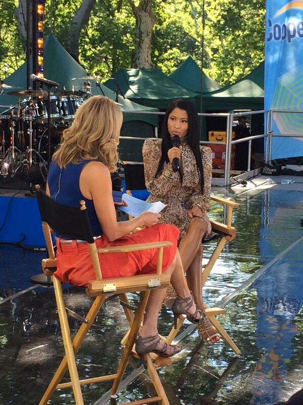 nicki minaj that grape juice good morning america 2014 Watch: Nicki Minaj Pours New Pink Print Details On Good Morning America
