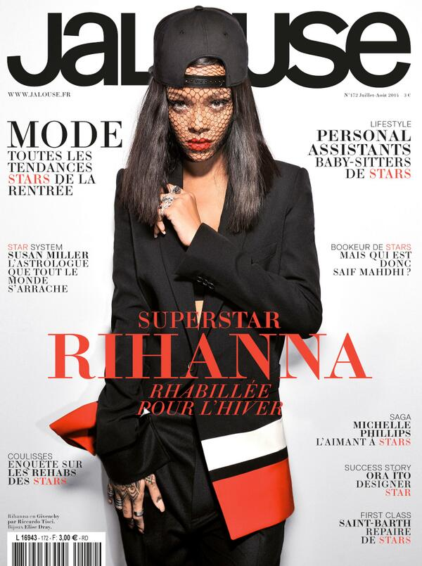 rihanna jalouse magazine that grape juice Hot Shot: Rihanna Covers Jalouse Magazine