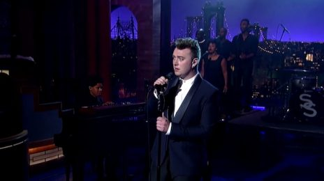 Watch: Sam Smith Performs 'Stay With Me' On 'Letterman'