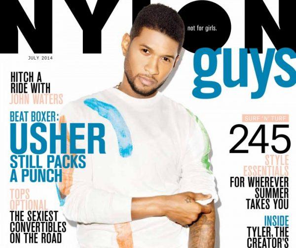 usher nylon 1 600x504 Usher Nabs Nylon Cover