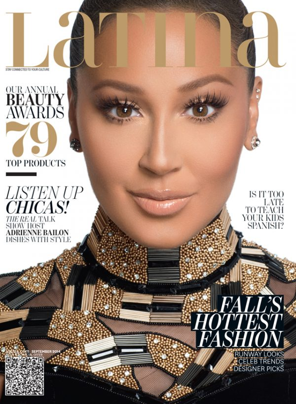 adrienne bailon latina magazine 600x819 Adrienne Bailon Covers Latina / Attacked By Kim Kardashian?