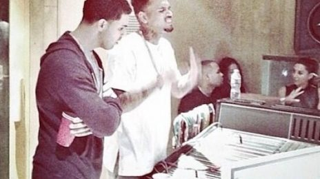 Chris Brown Hits Studio With...Drake