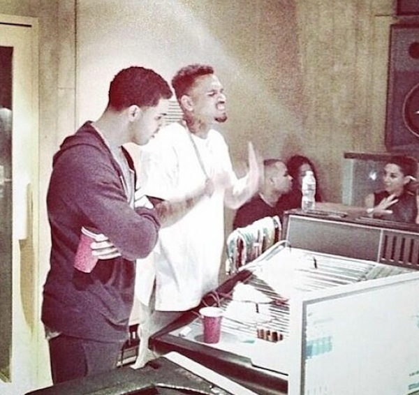chris brown drake Chris Brown Hits Studio With...Drake