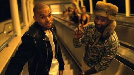 Watch: Chris Brown & Usher Shoot 'New Flame' Video