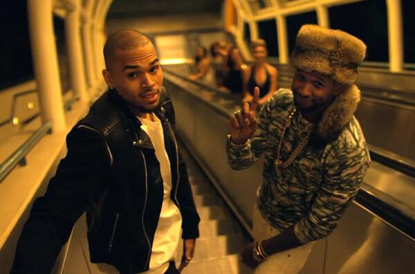 chris brown usher new flame Watch: Chris Brown & Usher Shoot New Flame Video