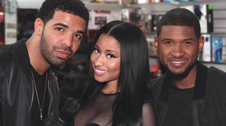 Hot Shot: Nicki Minaj Teases Drake & Usher Collaboration?