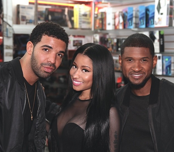 drake nicki minaj usher that grape juice Hot Shot: Nicki Minaj Teases Drake & Usher Collaboration?
