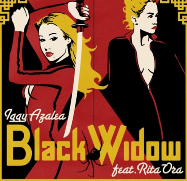 iggy azalea rita ora black widow that grape juice 600x581 Iggy Azalea Releases Black Widow Single Cover