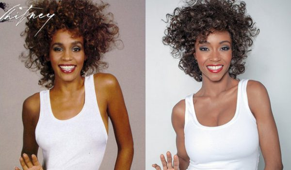 whitney houston yaya 600x351 Must See: Behind The Scenes Of Lifetimes Whitney Houston Biopic