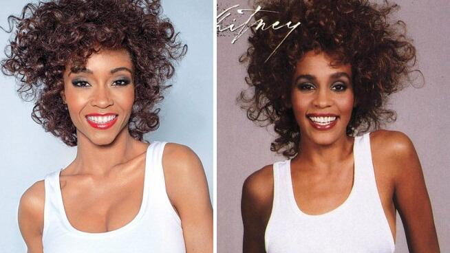 whitney yaya cover thatgrapejuice First Look:  Yaya DaCosta As Whitney Houston In New Lifetime Biopic