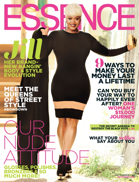 Jill Scott Essence that grape juice 11 Jill Scott Graces Essences September Fashion Issue