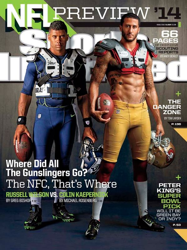 Russell Willson and Colin Kaepernick Sports Illustrated cover that grape juicejpg Colin Kaepernick & Russell Wilson Rock Sports Illustrated