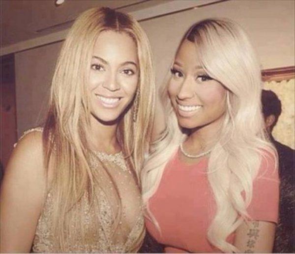 beyonce nicki minaj thatgrapejuice 600x517 Nicki Minaj Salutes Beyonce For Special Gift