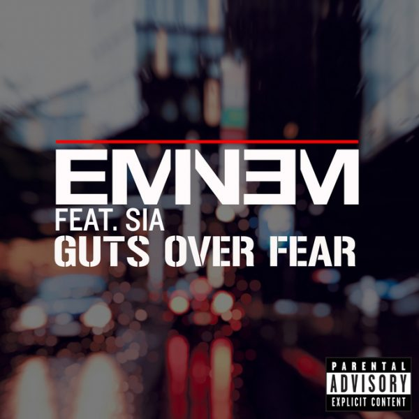 eminem guts over fear thatgrapejuice 600x600 New Song: Eminem   Guts Over Fear (ft. Sia)