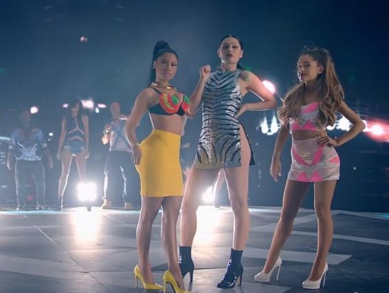 jj nm ag New Video: Jessie J, Ariana Grande, & Nicki Minaj   Bang Bang