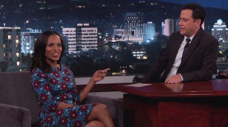 Kerry Washington Visits 'Kimmel'/ Talks 'Scandal' Season 4 & Baby Daughter