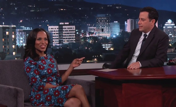 kerry washington kimmel thatgrapejuice Kerry Washington Visits Kimmel/ Talks Scandal Season 4 & Baby Daughter