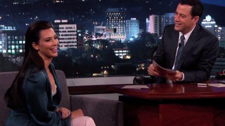 Kim Kardashian-West Visits 'Kimmel' / Dishes On Kanye Wedding, Rumors, & More