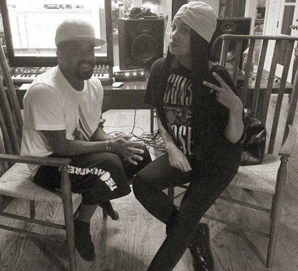 monica jermaine dupri thatgrapejuice 600x545 Hot Shot: Monica Hits Studio With Jermaine Dupri