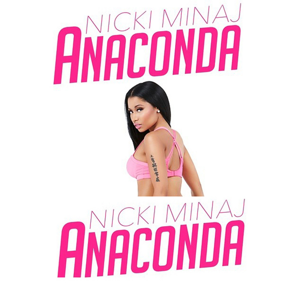 nicki minaj anaconda thatgrapejuice1 600x600 Anaconda: Nicki Minaj Cracks Billboard With New Single...Before Its Release