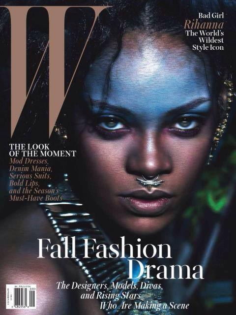 rihanna 123 321 Rihanna Wows In W Magazine With Naomi Campbell & Iman