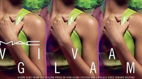 Rihanna Glows Green In New MAC Cosmetics Ad