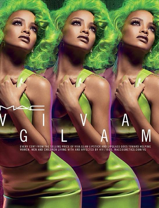 rihanna mac thatgrapejuice Rihanna Glows Green In New MAC Cosmetics Ad