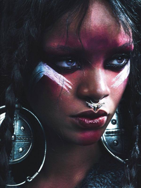 rihanna thatgrapejuice 1 Rihanna Wows In W Magazine With Naomi Campbell & Iman