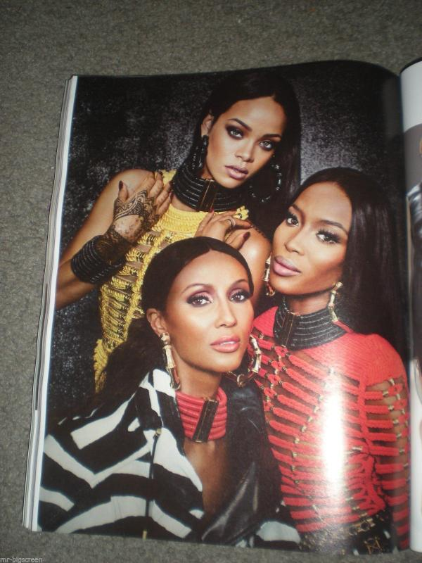 rihanna w mag thatgrapejuice 5 Rihanna Wows In W Magazine With Naomi Campbell & Iman