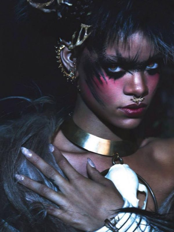 riri 222 600x801 Rihanna Wows In W Magazine With Naomi Campbell & Iman
