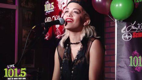Watch: Rita Ora Performs 'Black Widow' At Live 101.5 Phoenix