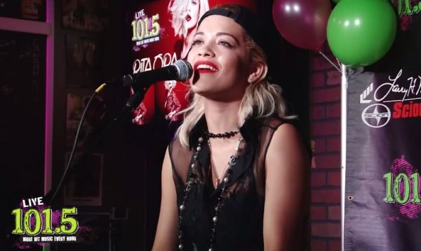 rita ora black widow thatgrapejuice 600x359 Watch: Rita Ora Performs Black Widow At Live 101.5 Phoenix