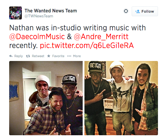 the wanted nathan sykes andre merritt that grape juice The Wanted Singer Teams Up With Kelly Rowland Writer For Solo Project