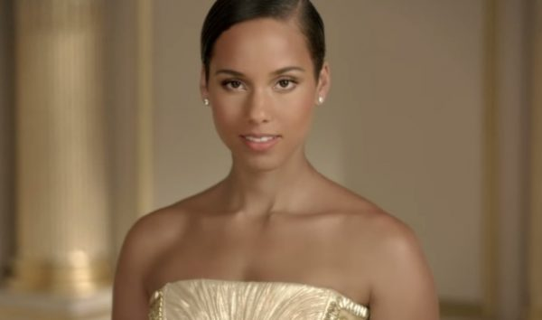 Alicia Keys in Givenchys Dahlia Divin Commercial that grape juice 600x354 Watch: Alicia Keys Stars In Givenchys Dahlia Divin Commercial
