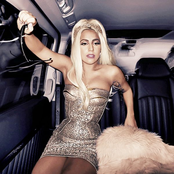 Lady gaga versace that grape juice televison 600x600 Lady GaGa On Living Up To High Standard: I Crashed