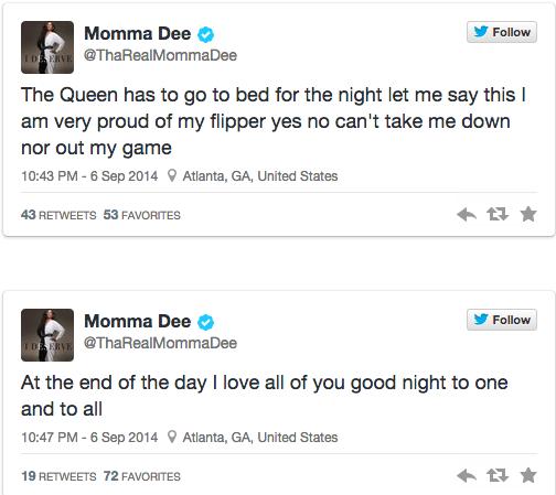 Momma Dee-tweet-tooth