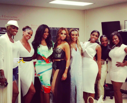 RHOA Season 7 Cast Group Shot THAT GRAPE JUICE Hollywood Actress Joins The Real Housewives of Atlanta