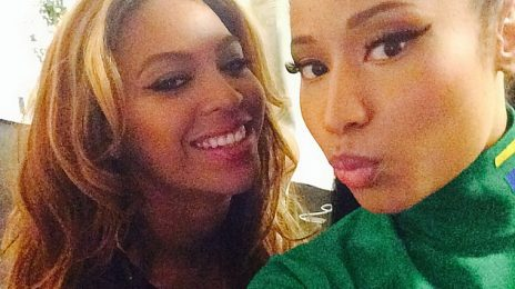 Hot Shot: Beyonce & Nicki Minaj Take Selfie Together